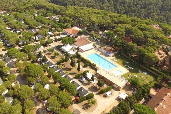 Vista aérea bungalows camping Girona - Kim's Camping Llafranc